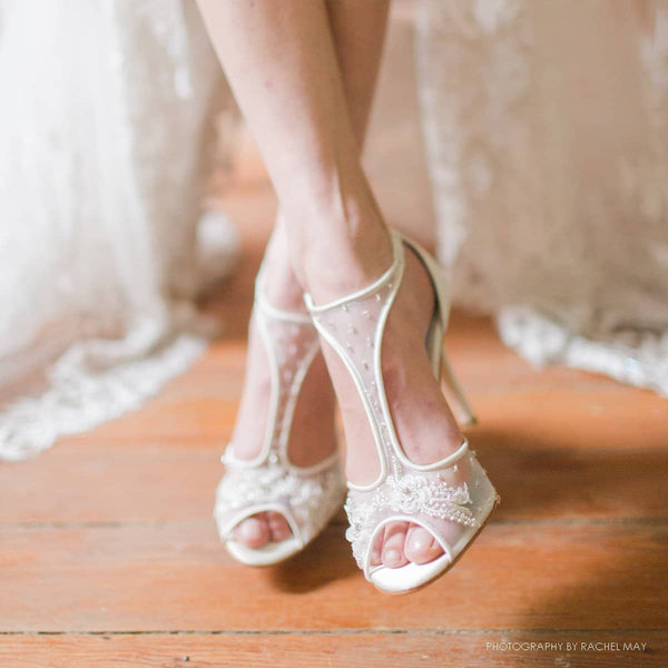 Paloma jeweled wedding heels editorial