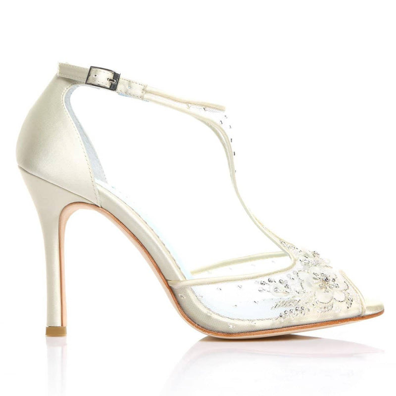 Paloma jeweled wedding heels