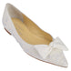 Bella Belle Lavender White Embroidered Flats with Bows by joy proctor