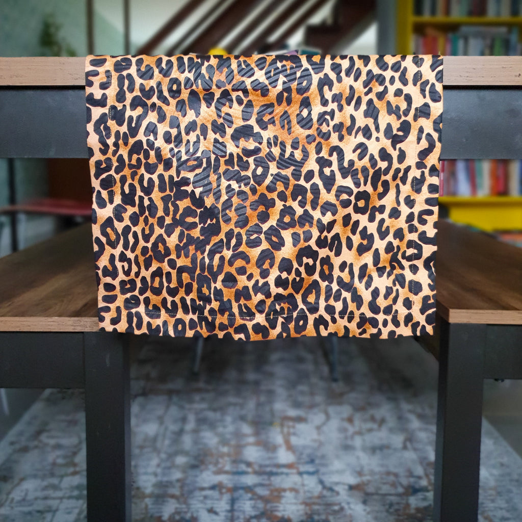 Leopard Print Table Runner