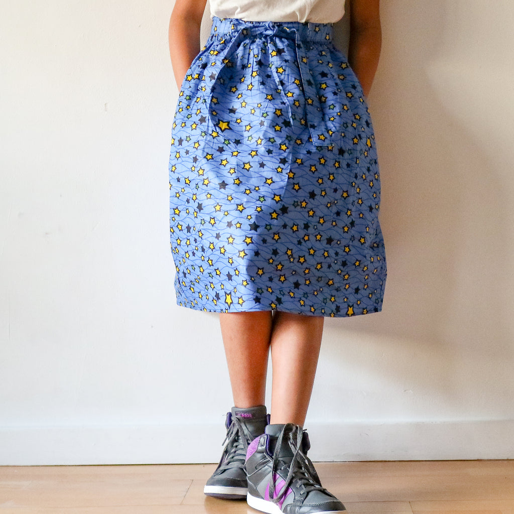 Girls Yellow Star Skirt
