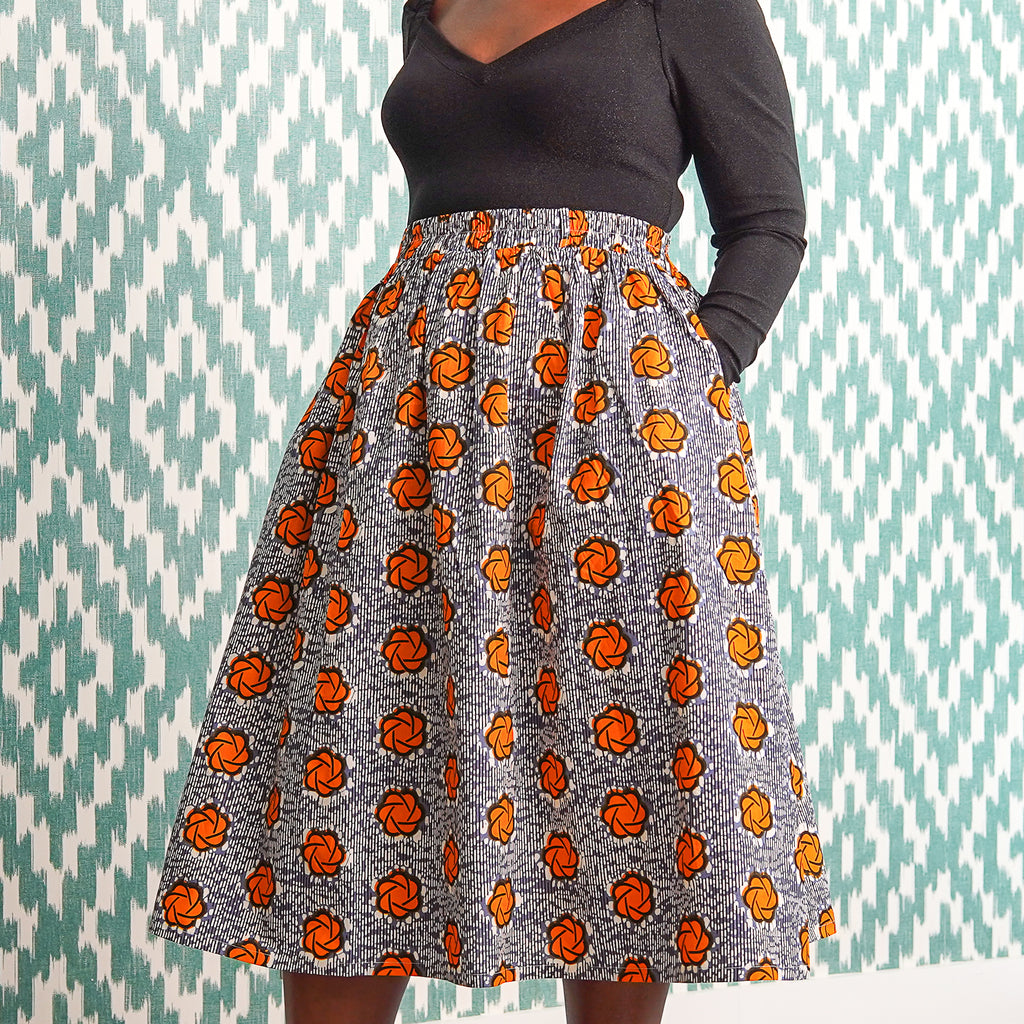 Eyitayo Orange Skirt