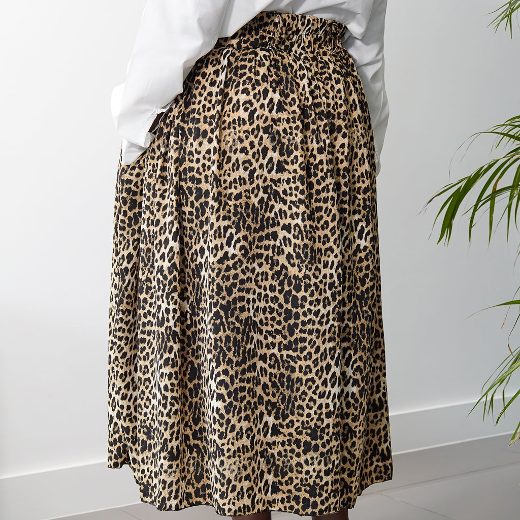 Lanre Leopard Limited Edition Gathered Skirt