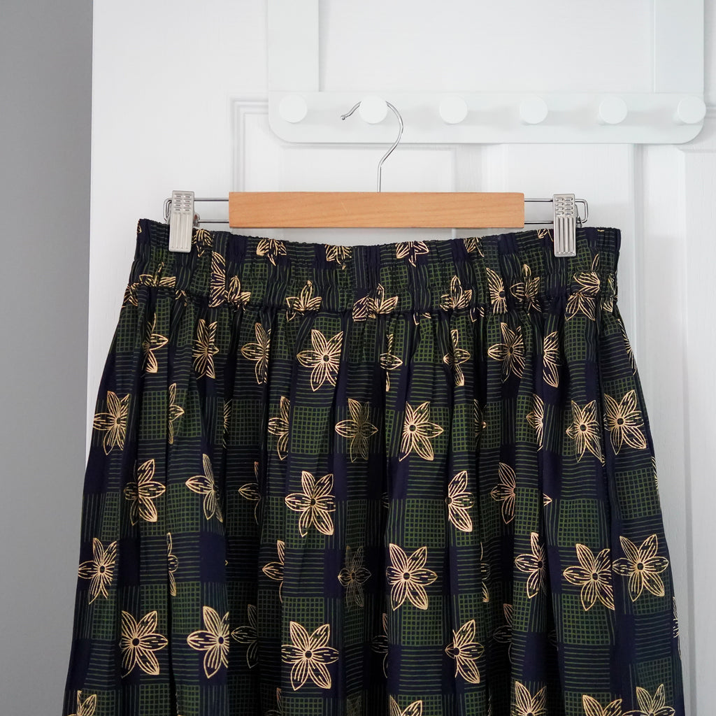 Gold Tayo Daisy Gathered Skirt