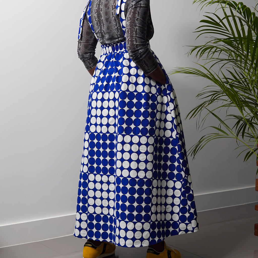 Lolade Polka Drawstring Panel Skirt