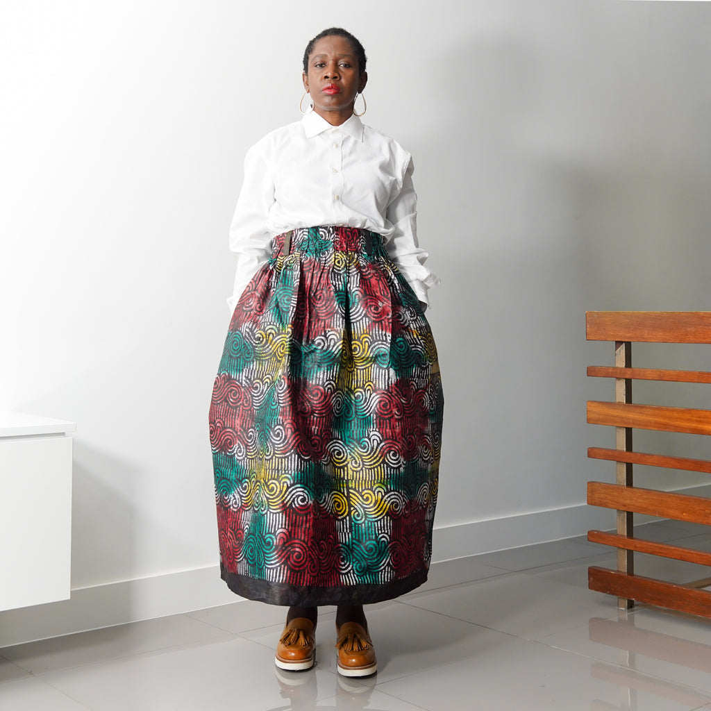 Lanre Fabulous Adire Limited Edition Gathered Skirt