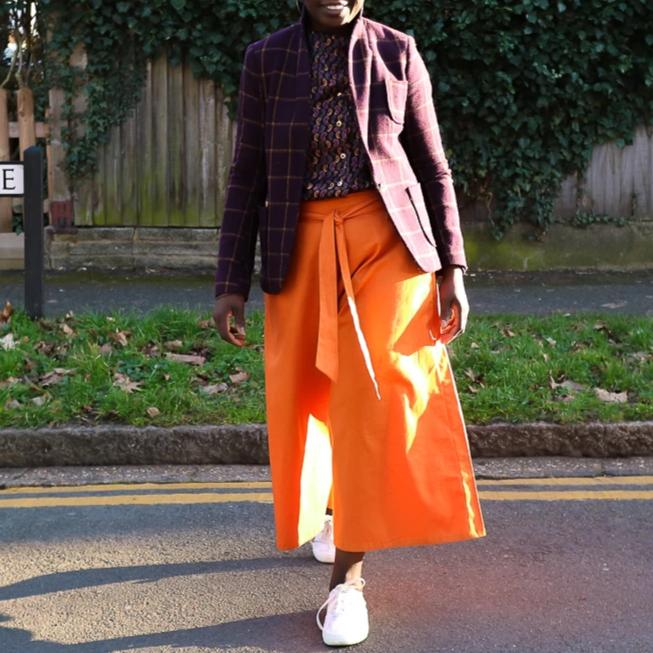 Orange Cotton Culottes