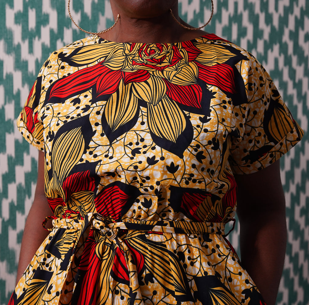 Limited Edition Lanre  Egba Belted Dress