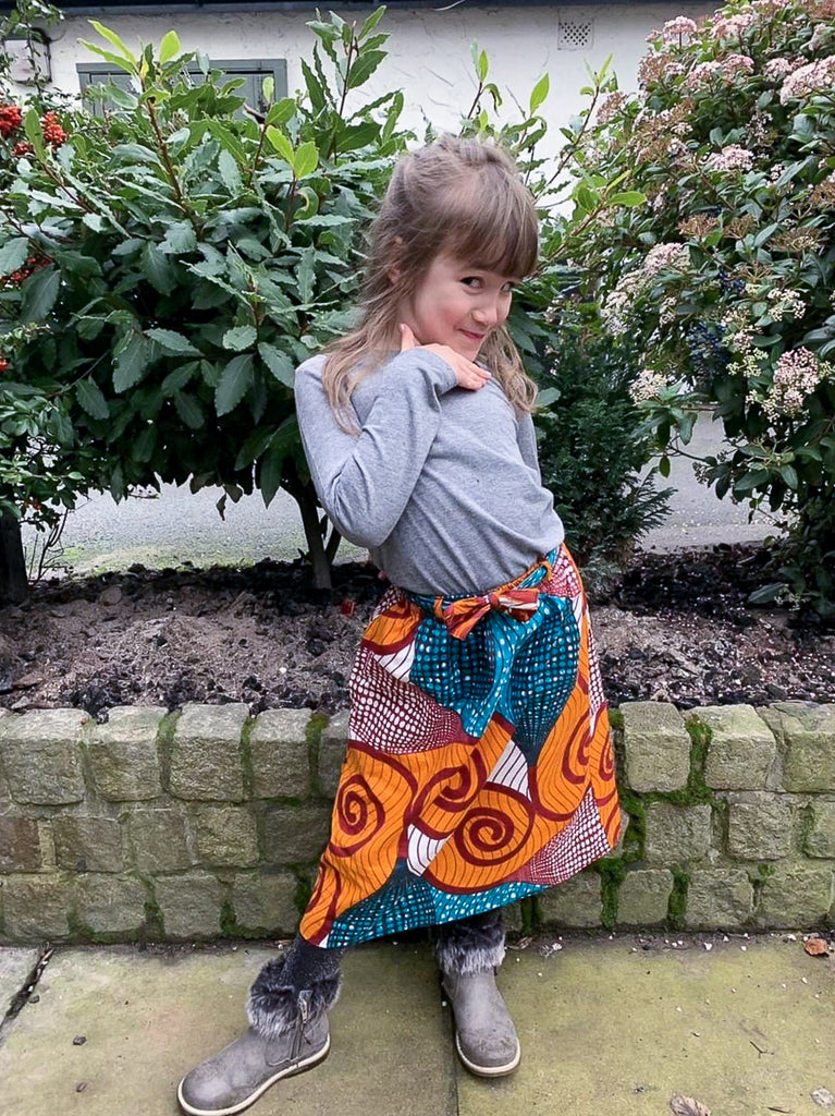 Girls Cinnamon Swirl Skirt