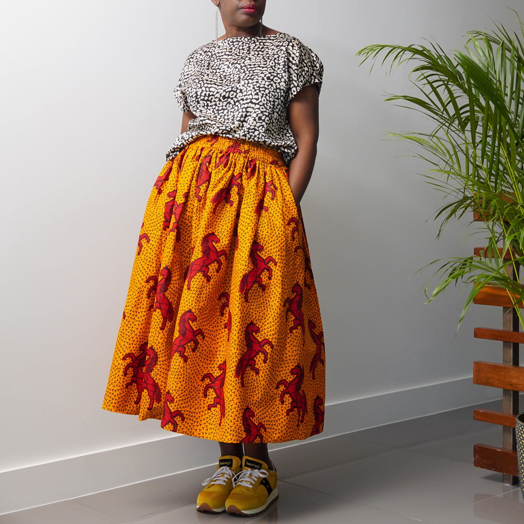 Adebiyi Jumping Horse  Gathered Skirt