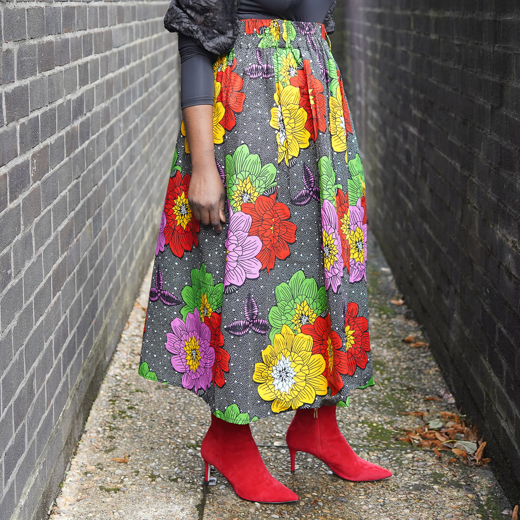 Lanre Bold Flowers Limited Edition Gathered Skirt