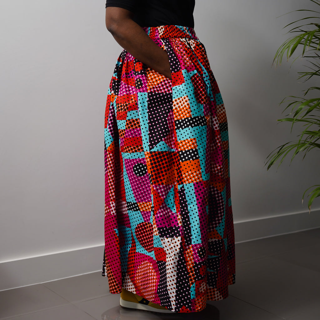 Sapele  Water  Gathered Skirt