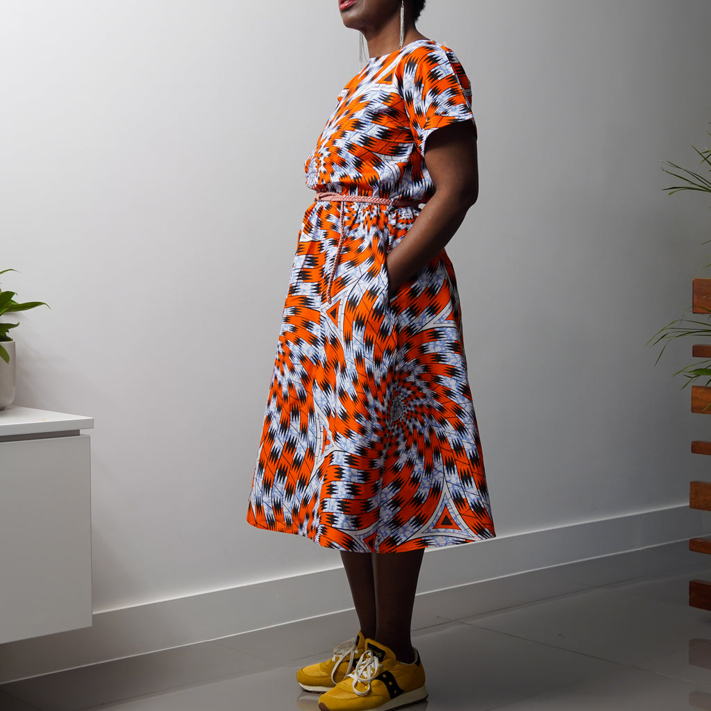 Ifedayo Lightning Bolt Belted Dress