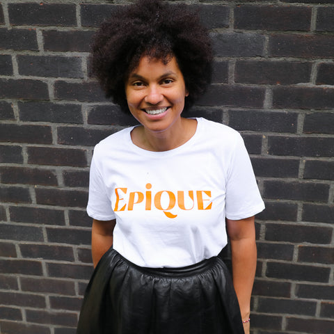 'Epique' Cotton Round Neck Tee