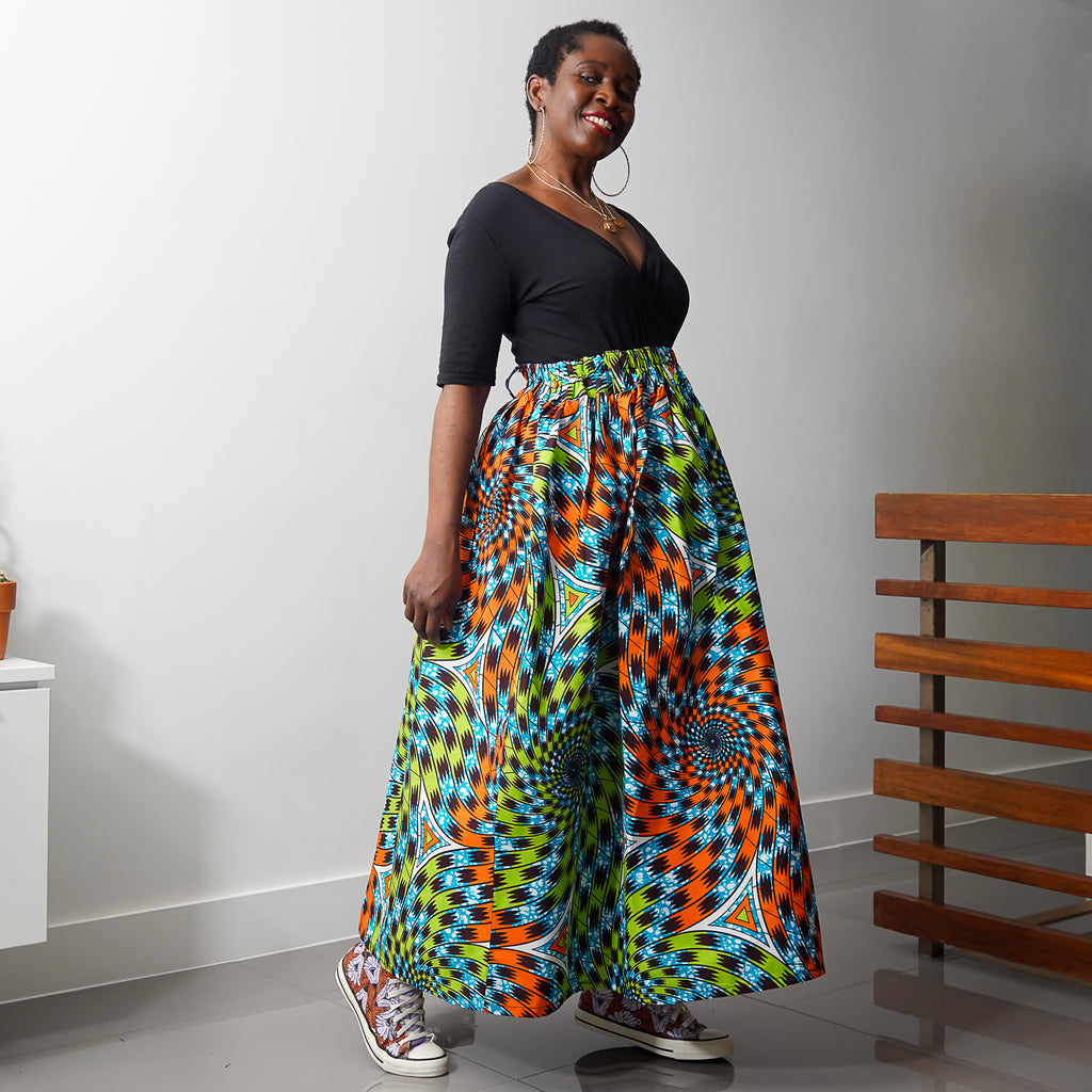 Lanre Wave Limited Edition Gathered Skirt