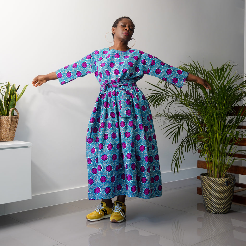 Limited Edition Eyitayo Blue Free Dress