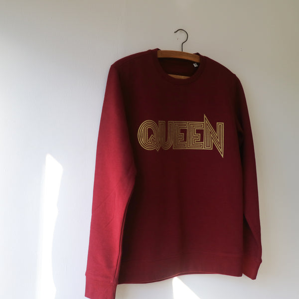 Burgundy 'QUEEN' Sweatshirt