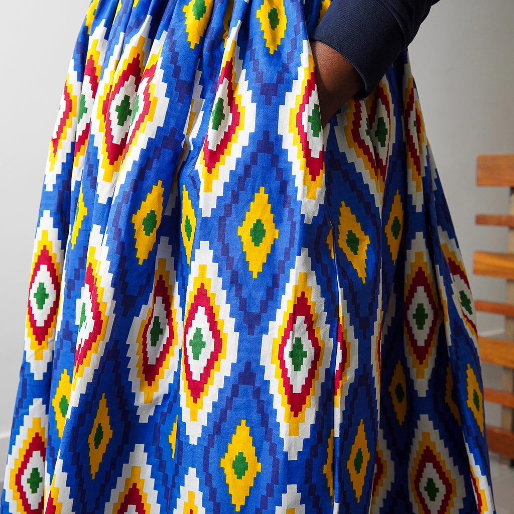 Sisi Eko Gathered Maxi Skirt