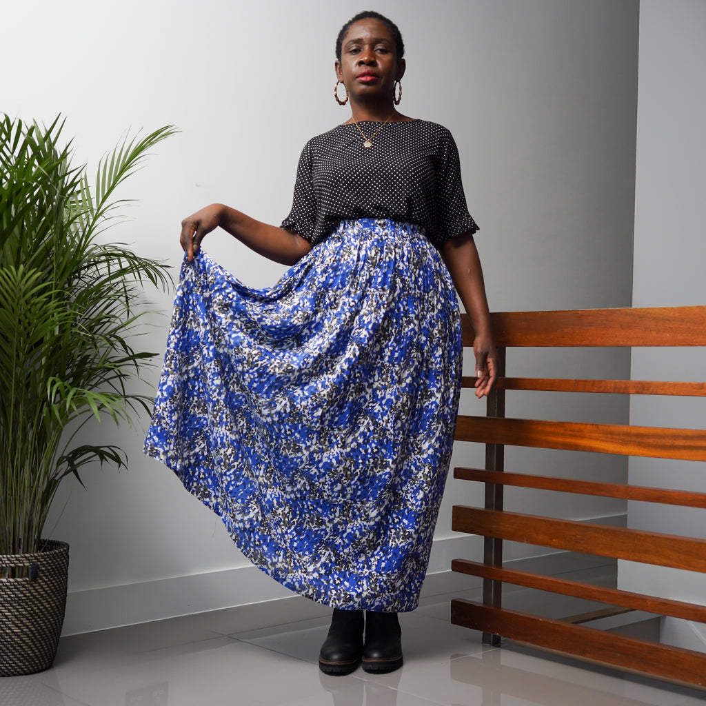 Dayomi Blue Maxi Skirt
