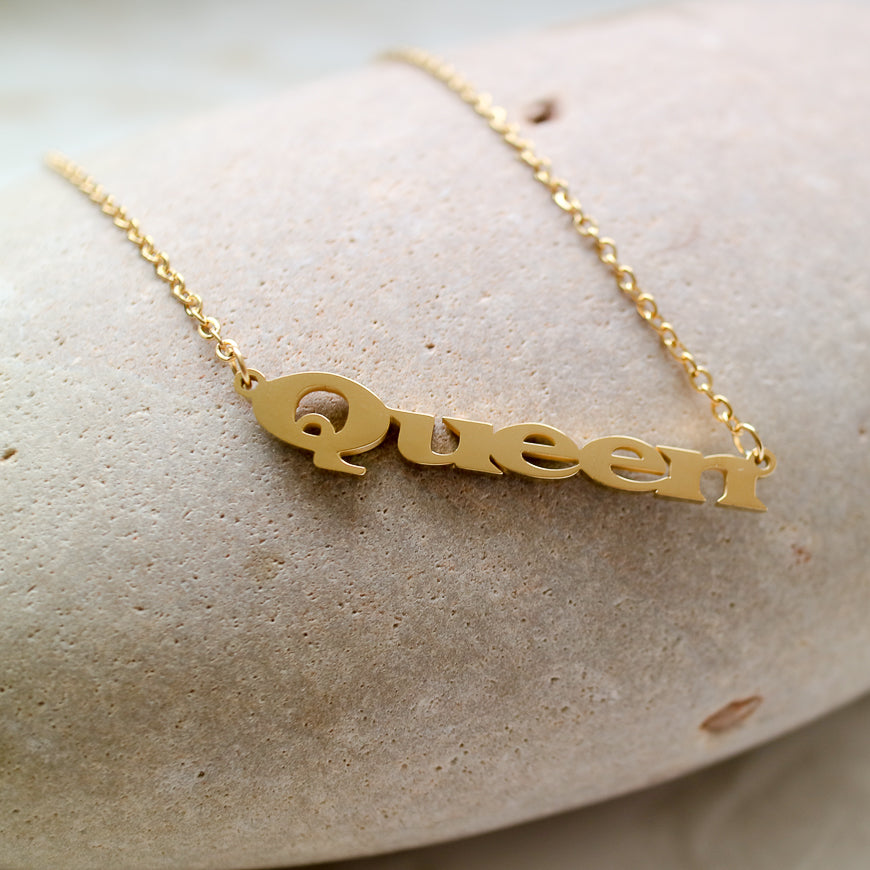 Broad 'Queen'  Scrpit Necklace
