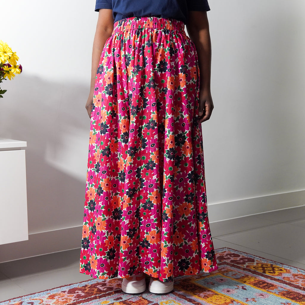Attention 8 Panel Maxi Skirt
