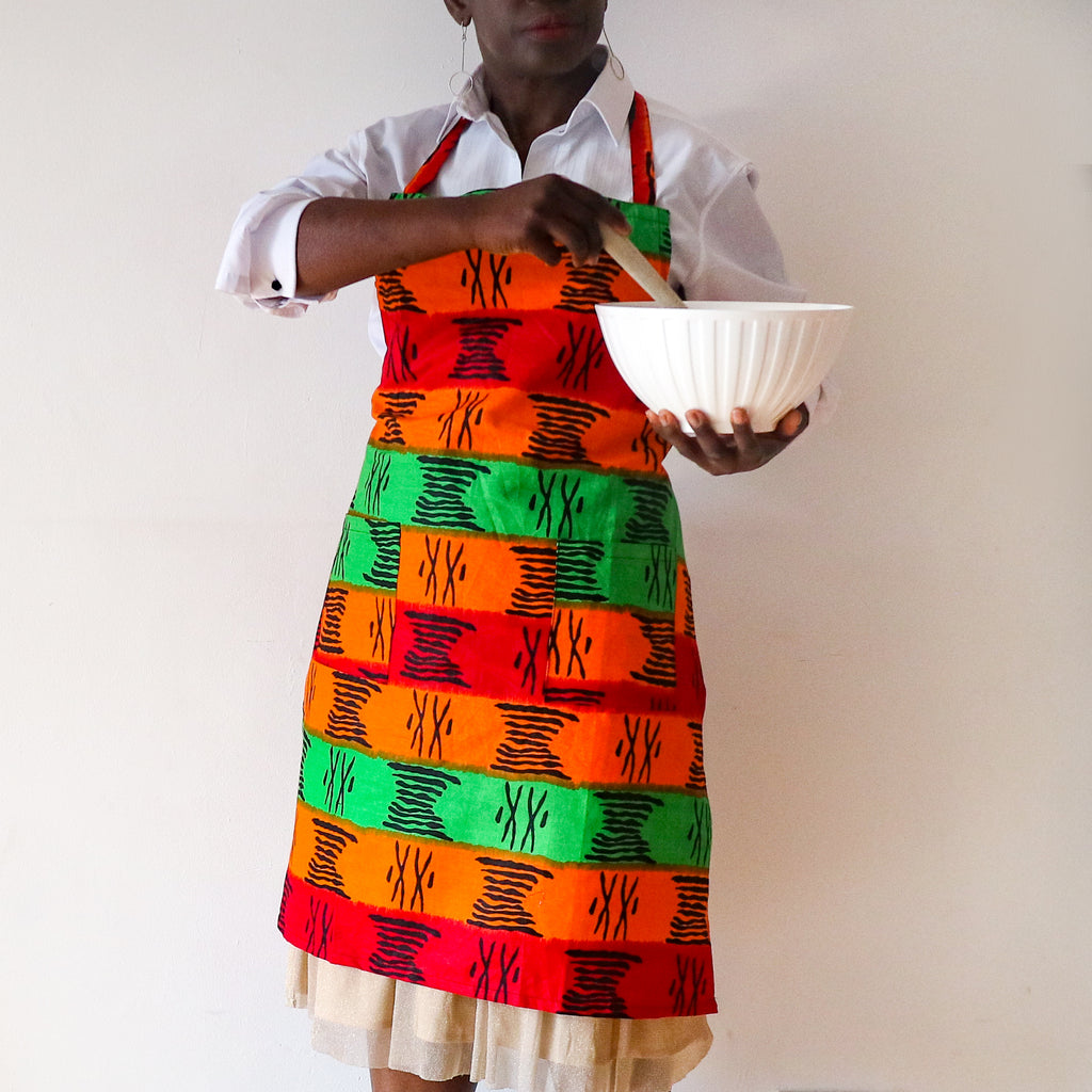 Tri Colour Apron