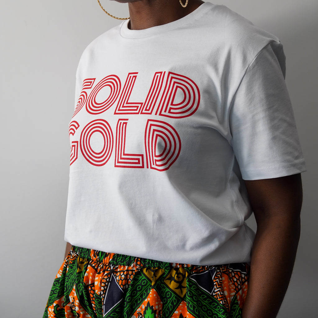 White 'Solid Gold' Tee