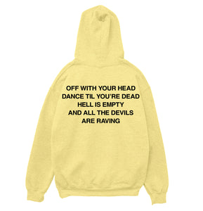 HELLRAVE HOODIE [WAREHOUSE YELLOW] - Boogiemade