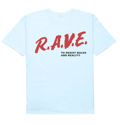 RESIST REALITY TEE [LIGHT BLUE] - Boogiemade