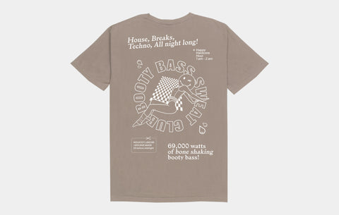 BOOTY BASS SWEAT CLUB TEE [COFFEE] - Boogiemade
