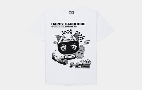 HAPPY HARDCORE DRIFT TEAM TEE [WHITE] - Boogiemade