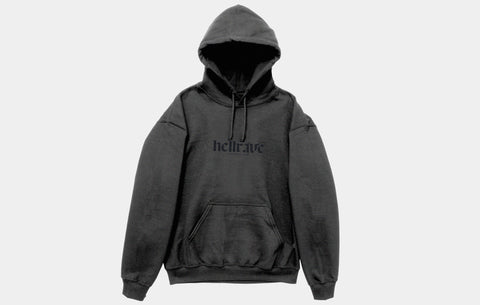 HELLRAVE HOODIE [CHARCOAL BLACK] - Boogiemade