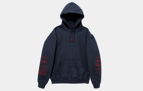 ILL BEHAVIOR HOODIE [NAVY/SCARLET]