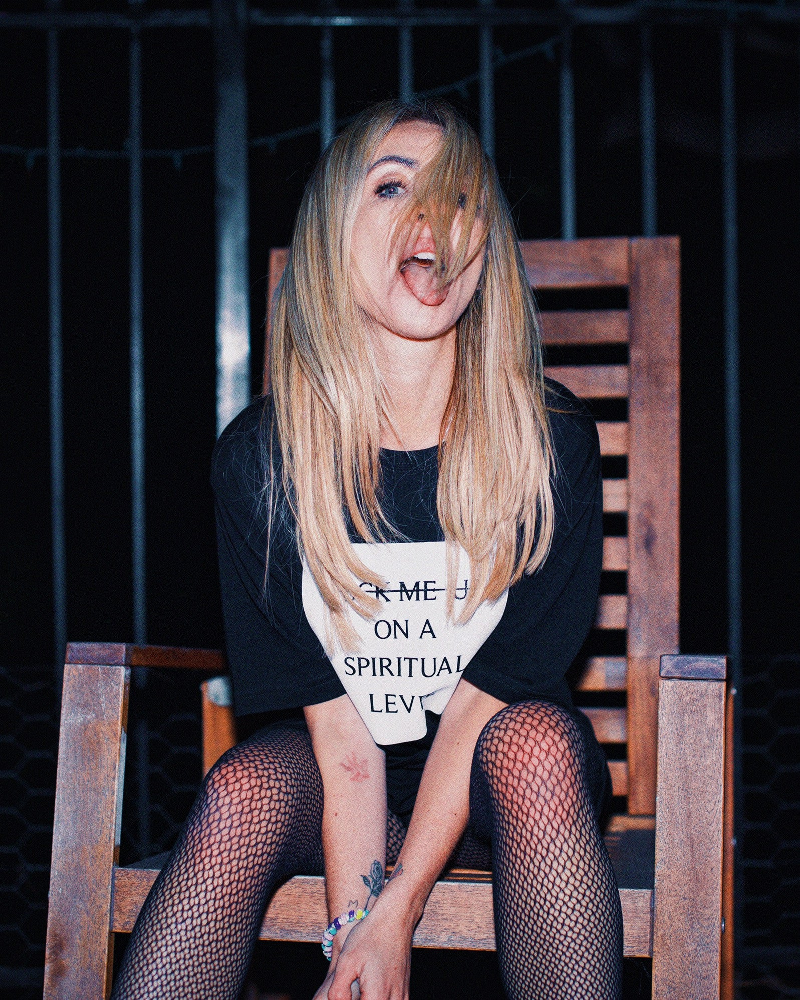 ALISON WONDERLAND 'SPIRITUAL LEVEL' TEE [BLACK]