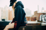 ILL BEHAVIOR HOODIE [NAVY/SCARLET] - Boogiemade