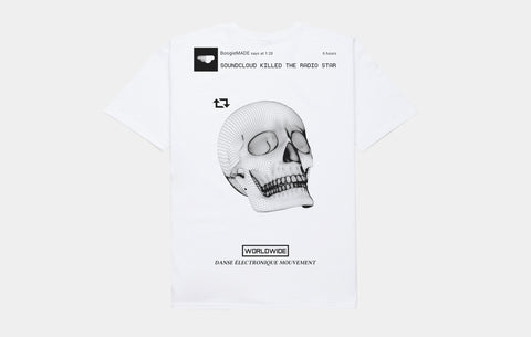 KILLED THE RADIO TEE [WHITE]