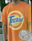 TECHNO CLEAN TEE [OXI ORANGE] - Boogiemade
