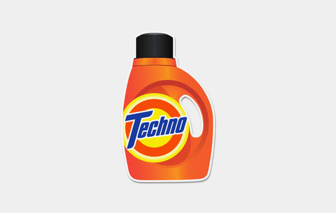 TECHNO TIDE STICKER - Boogiemade