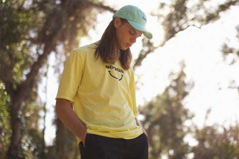 HELLRAVE TEE [WAREHOUSE YELLOW] - Boogiemade
