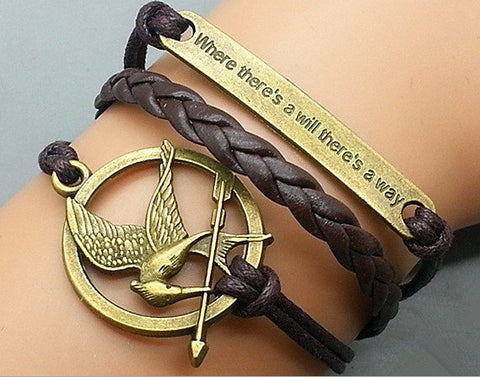 """Where there's a will there's a way"" Mockingjay Pendant"