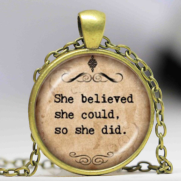 Bible Verse Motivational Quote Necklace