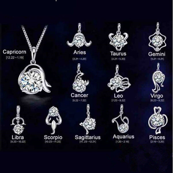 Crystal Zodiac Signs Necklaces