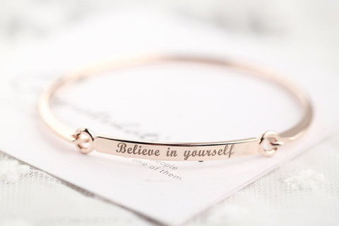 """Believe in yourself ""Bangle Bracelet"