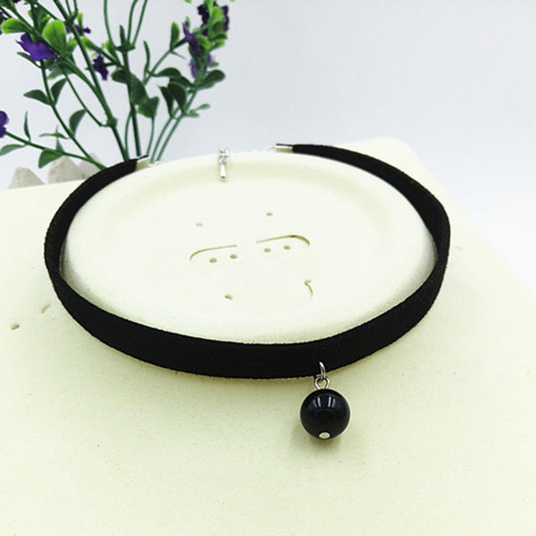 Black Necklace With Sphere