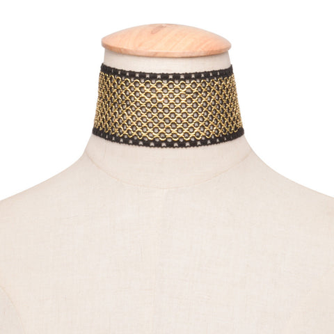 Gold Lace Collar Choker
