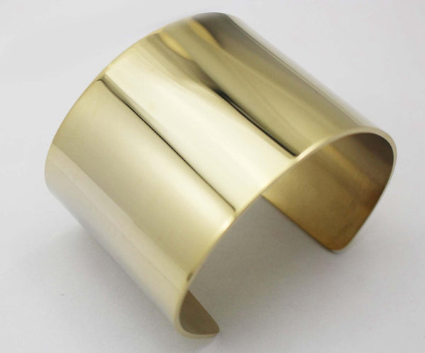 Gold Plated Wide Cuff Bangle