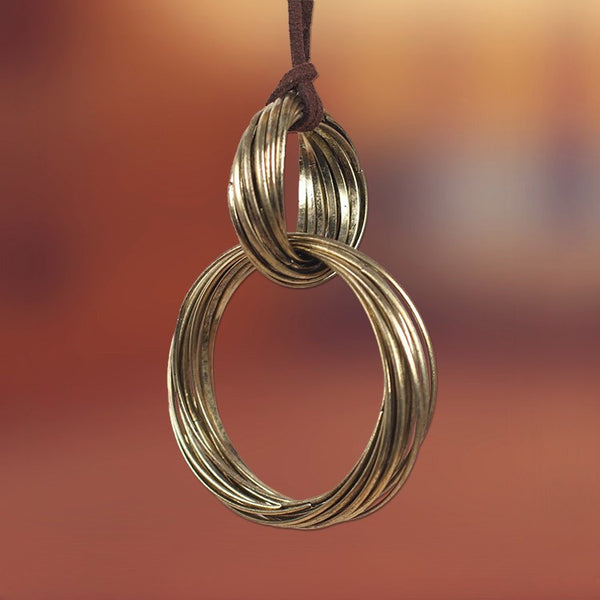 Double-Loop Pendant Necklace