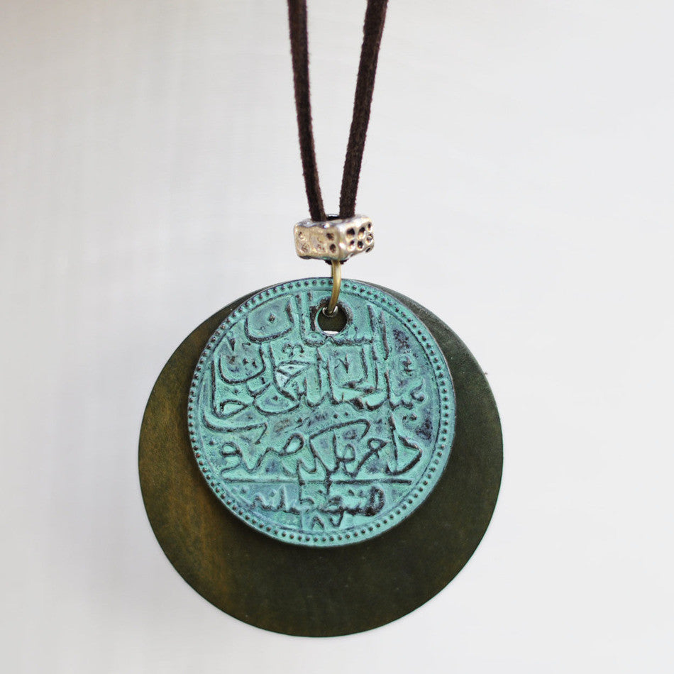 Hand Crafted Pendant Necklace Buddhist Engravings