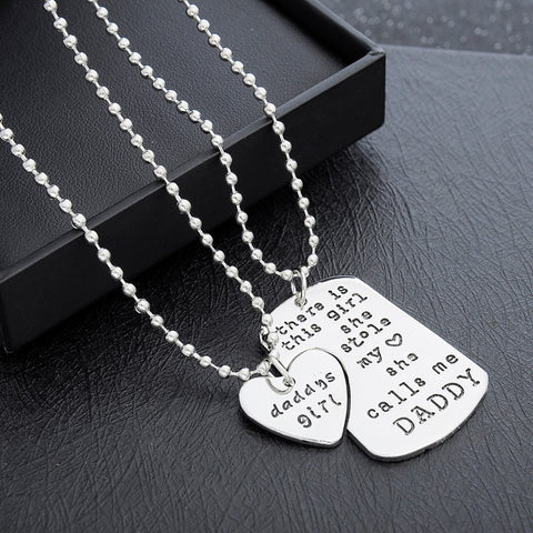 Daddy's Girl Quoted Two-Piece Necklace