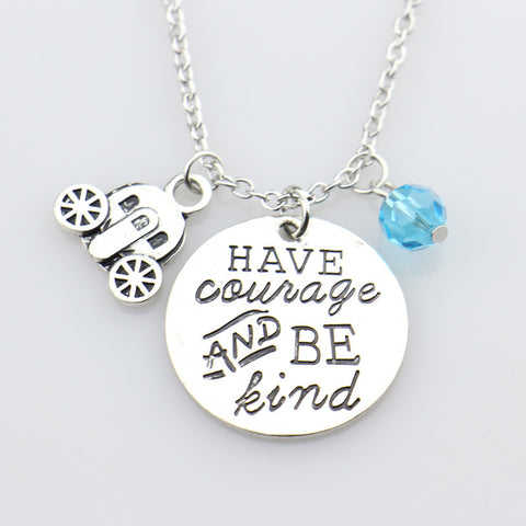 """Have Courage & Be Kind"" Hand Stamped Necklace"